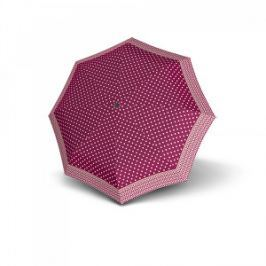 Doppler Dámsky plne automatický dáždnik Magic Carbonsteel Nizza - purpurový s bodkami 744765NI01