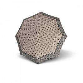Doppler Dámsky plne automatický dáždnik Magic Carbonsteel Nizza - béžovo-šedý s bodkami 744765NI02