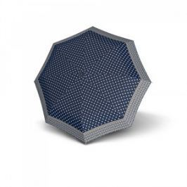 Doppler Dámsky plne automatický dáždnik Magic Carbonsteel Nizza - modrý s bodkami 744765NI03