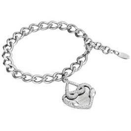 Just Cavalli Oceľový náramok so srdcom JCBR00090100