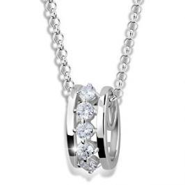 Modesi Módny náhrdelník zo striebra M41090