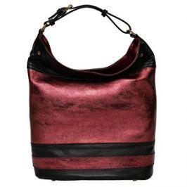 Carla Ferreri Elegantná kožená kabelka CFP10 BORDEAUX NERO 630756768b3