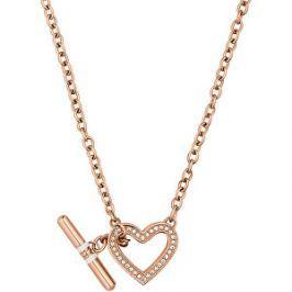 Tommy Hilfiger Bronzový náhrdelník so srdcom TH2700638