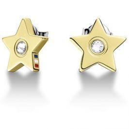Tommy Hilfiger Zlaté náušnice Hviezdičky s kryštálom TH2700844