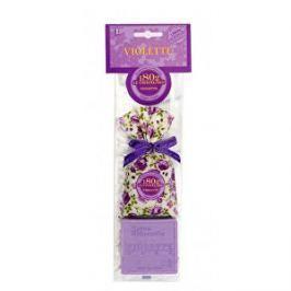 Le Chatelard Darčekový set s vôňou fialky Vonný sáčok 18 g + mydlo v tvare štvorca 100 g