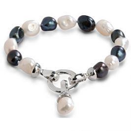 JwL Luxury Pearls Náramok z pravých perál v dvoch odtieňoch JL0317
