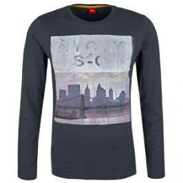 s.Oliver Pánske tričko 13.710.31.5748.9581 Grey L