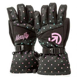 Meatfly Dámske prstové rukavice Destiny Gloves A - Rainbow Black Dot Print S