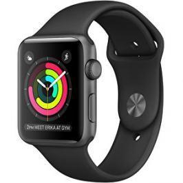 Apple Watch Series 2 38mm vesmírně šedý hliník s černým řemínkem