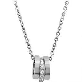 Troli Oceľový náhrdelník s nežným príveskom