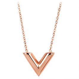 Troli Ružovo pozlátený náhrdelník s príveskom v tvare
