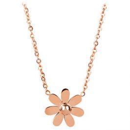 Troli Ružovo pozlátený náhrdelník s kytičkou
