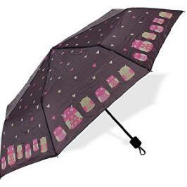 Albi Skladací dáždnik sa sovami a so srdiečkami