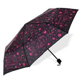 Albi Skladací dáždnik s ružovými kvetmi