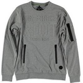 Cars Jeans Pánska štýlová mikina Galle Grey 4352653 S