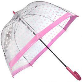 Fulton Dámsky priehľadný palicový dáždnik Birdcage 2 raining BUTTERFLIES L042