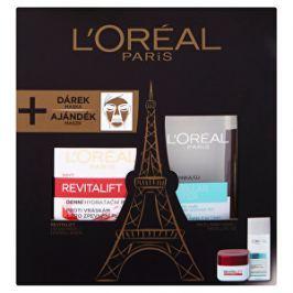 Loreal Paris Darčeková sada Revitalift: Denný krém proti vráskam Revitalift 50 ml + Micelárna voda 3v1 (Micellar Water) 200 ml + Intenzívna čistiaca rozjasňujúce maska Pure Clay (Detox Mask) vzorka