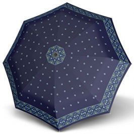 Doppler Dámsky plne automatický dáždnik Carbon Magic mini big mascha modrý 74665GFGMA02