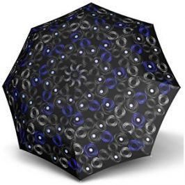 Doppler Dámsky skladací automatický dáždnik Fiber Magic Sofia černo-modrá 7441465SA01