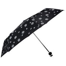 Doppler Dámsky skladací mechanický dáždnik Special Mini Edelweiss čierna 700065E03