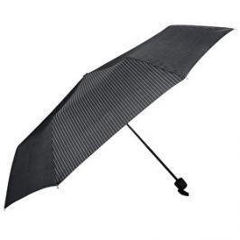 Doppler Dámsky skladací mechanický dáždnik HIT čierny s prúžkom 700167P02