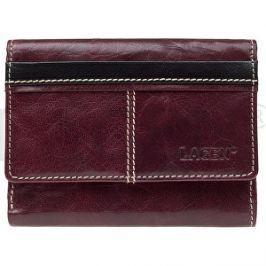 Lagen Dámska kožená peňaženka 1056 Red + Black