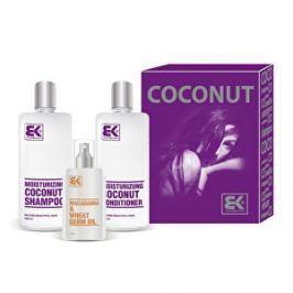 Brazil Keratin Darčeková sada pre suché a poškodené vlasy Coconut Set: Jemný kokosový šampón pre poškodené vlasy (Moisturizing Coconut Shampoo) 300 ml + Keratínový vlasový kondicionér pre suché vlasy (Moisturizing Coconut Conditioner) 300 ml + Makadamiový olej ( Macadamia & Wheat Germ Oil) 100 ml