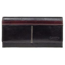 Lagen Dámska kožená peňaženka 9770 Black + Red