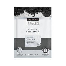 Freeman Čistiaca látková maska Aktívne uhlie a probiotiká Beauty Infusion ( Cleansing Sheet Mask) 25 ml