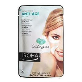 Iroha Hydrogélové vankúšiky pod oči či k ústam proti starnutiu s kolagénom (Anti-Age Hydrogel Patches Collagen ) 6 ks