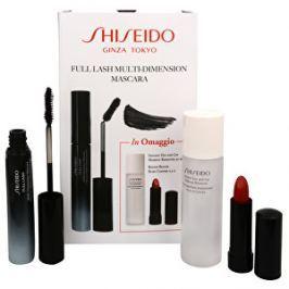 Shiseido Darčeková sada s riasenkou Full Lash Multi Dimension: Tvarujúci riasenka Full Lash (Multi-Dimension Mascara) 8 ml + Jemný dvojfázový odličovač make-upu (Instant Eye And Lip Makeup Remover) 30 ml + Krémová hydratačný rúž Rouge - odtieň Ruby Copper 2,5 g