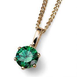 Oliver Weber Pozlátený strieborný náhrdelník s kryštálom Brilliance 61125G GRE