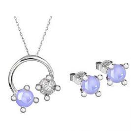 Preciosa Súprava šperkov Blossoms-set Violet 5231 56
