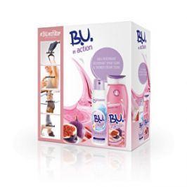 B.U. In Action Sensitive - deodorant ve spreji 150 ml + Jogurt & fík - sprchový krém 250 ml