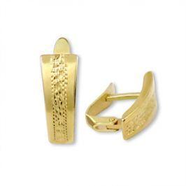 Brilio Zlaté náušnice s ozdobným rytím 231 001 00593 - 1,85 g