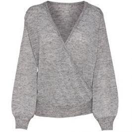ONLY Dámsky sveter Elan L/S Pullover KNT Light Grey Melange S