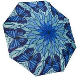 Blooming Brollies Dámsky dáždnik Butterfly stained glass themed folding style