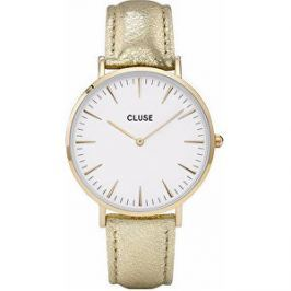 Cluse Minuit Gold White/Gold Metallic CL30036