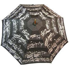 Blooming Brollies Palicový dáždnik Black Music Notes LRWP877 / BM