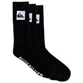Quiksilver Pánske ponožky 3 Crew Pack Black EQYAA03669-KVJ0