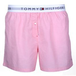 Tommy Hilfiger Dámske boxerky Woven Boxer End On End Calypso Coral UW0UW00691 -662 S