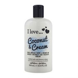 I Love Kúpeľový a sprchovací krém s vôňou kokosu a sladkého krému (Coconut & Cream Bubble Bath And Shower Creme) 500 ml - ZĽAVA - poškodený obal