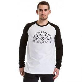 Meatfly Pánske tričko Rioter Long Sleeve C-White,Black M