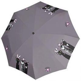 Doppler Dámsky skladací plne automatický dáždnik Fiber Magic Special Royal Cats 746165RC01