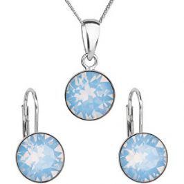 Evolution Group Strieborná súprava šperkov 39140.7 blue opal