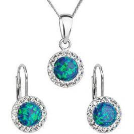 Evolution Group Trblietavá súprava šperkov 39160.1 & green s.opal