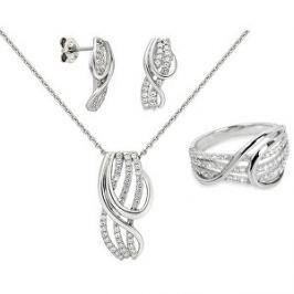Silver Cat Súprava šperkov s trblietavými zirkónmi + retiazka zdarma 54 mm