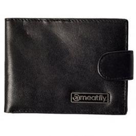 Meatfly Peňaženka Riker Leather Wallet A Black