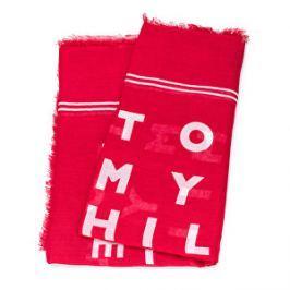 Tommy Hilfiger Dámska šál Logo Story Scarf Tommy Red