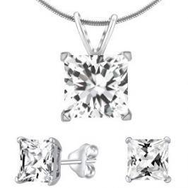Silvego Strieborný set šperkov s čírym krištáľom JJJSQ55